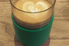 In December, I took my Frank Green Smart Cup for a flat white. Look! Latte art!