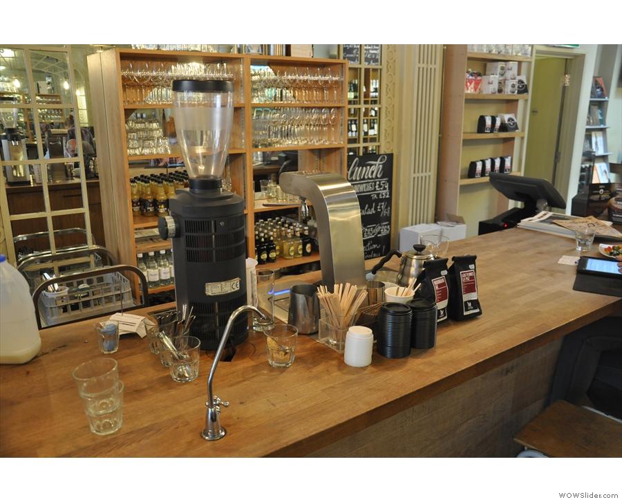 The brew bar.
