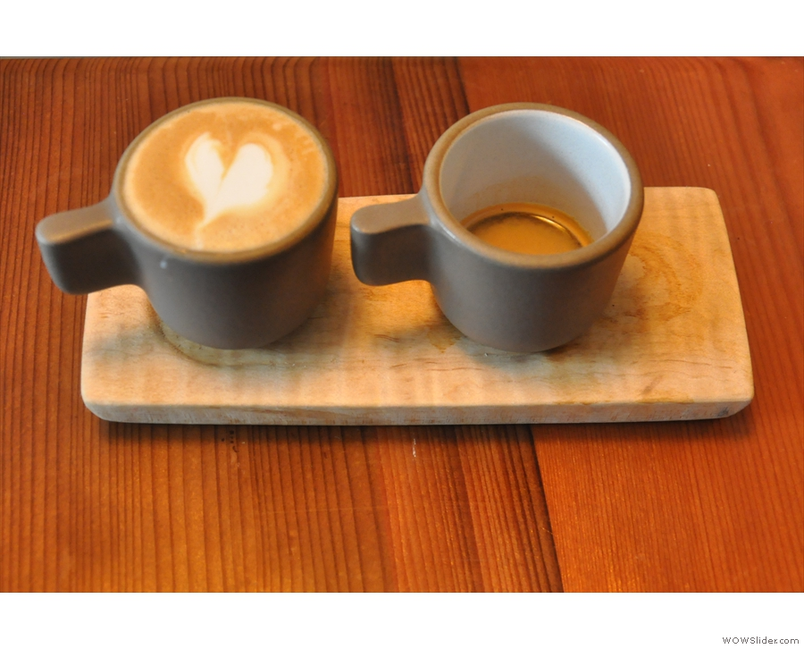 I had a One & One: single shot espresso and a macchiato. The perfect parting gift :-)