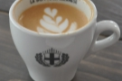 A lovely flat white from La Bottega Milanese in The Light, Leeds