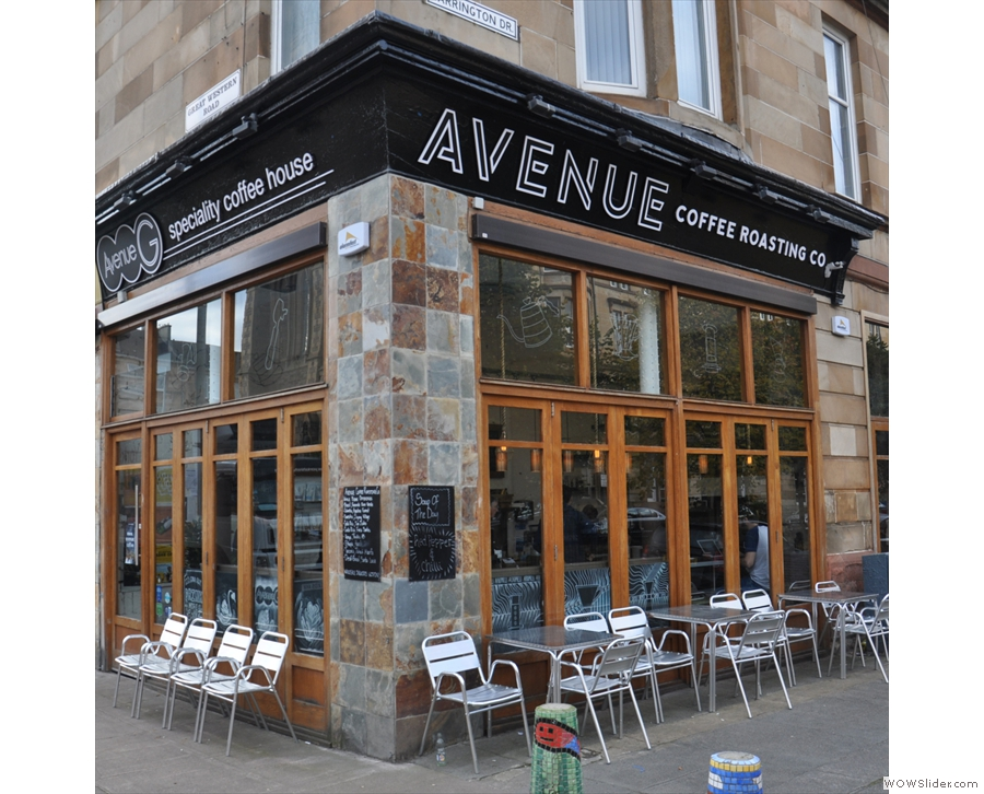 Avenue Coffee, Great Western Road, where I had a V60 of an Ethiopian Rocko Mountain.