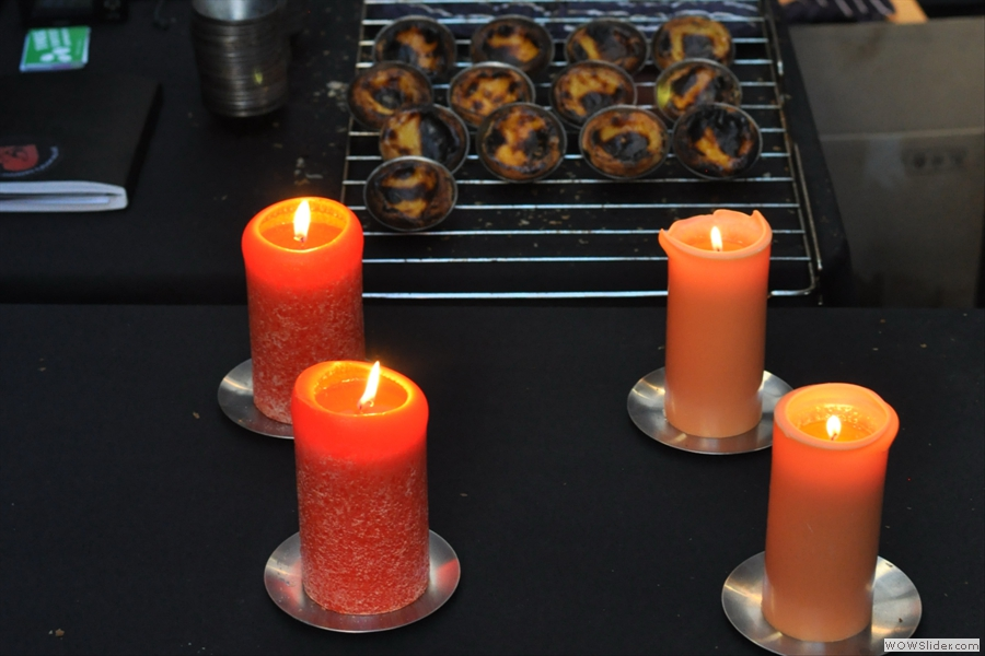 Candle-lit natas anyone? They tasted even better than they looked! All the way from Porto, courtesy of Nata Pure