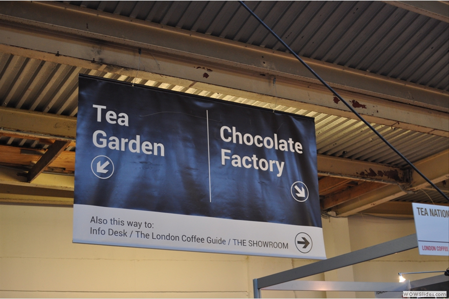 Yes, there is a tea section, right at the back, in a hard to find corner. And a chocolate factory! Now, that's more like it!