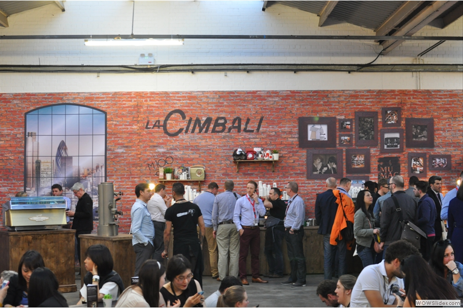The La Cimbali mini-museum in Hyde Park. One for Sunday.