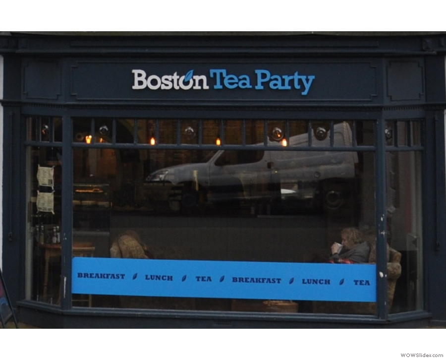 The Boston Tea Party, in Honiton, is another with a sheltered garden at the back.
