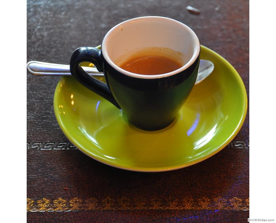 A classic Italian espresso at Doctor Espresso - Mama V's.