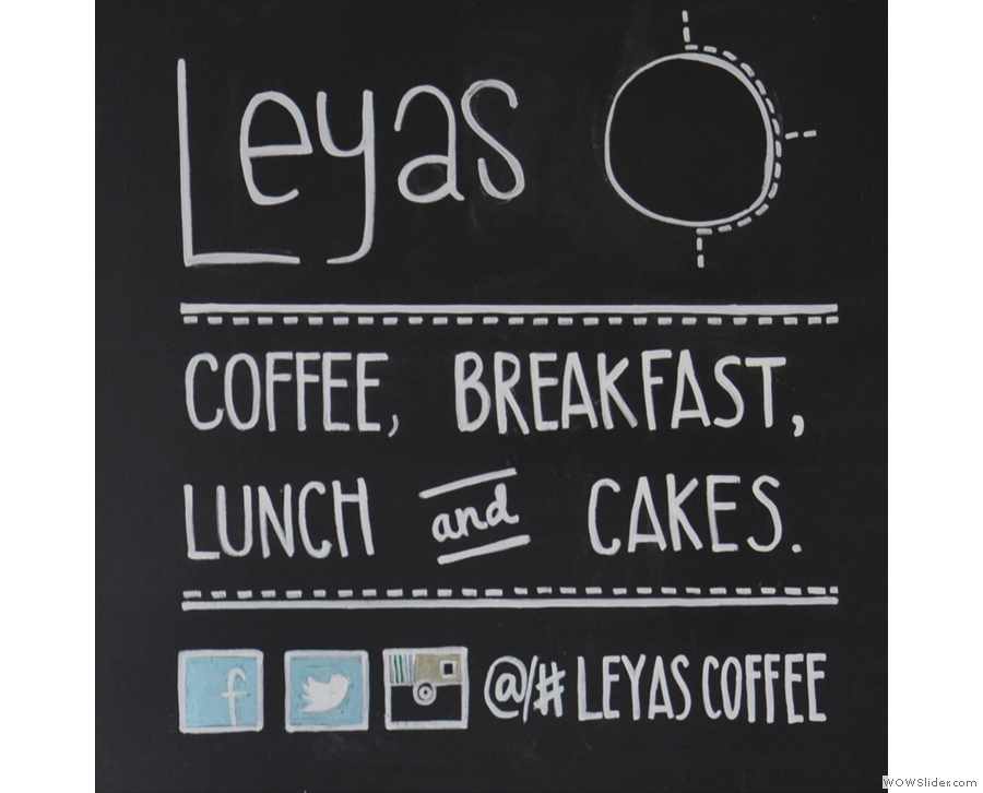 Leyas, where I had a Nkora single-origin from Rwanda, roasted by Mission Coffee Works.