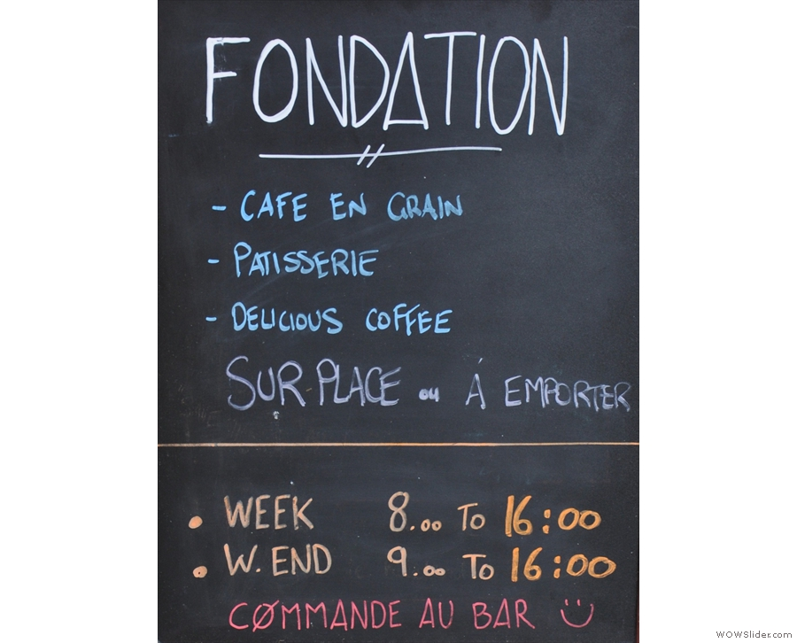 Paris' Fondation Cafe is genuinely tiny, unless you count the outdoor seating.