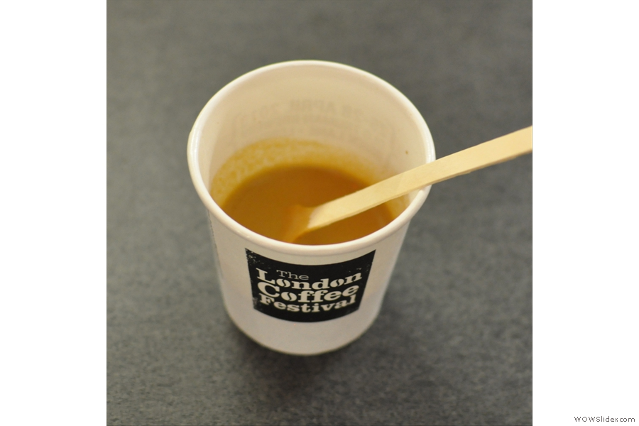 Best cup of coffee of the day; Dear Green's Treron Corretto, with Whisky and Honey.