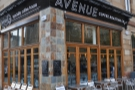 Avenue Coffee, Great Western Road, bright, spacious and decked out in stone and wood.