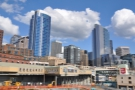 Next stop, downtown Seattle & an unusual view of Pike Place Market from the waterfront.