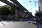 And here we are, under another of Seattle's transportation options, the monorail.