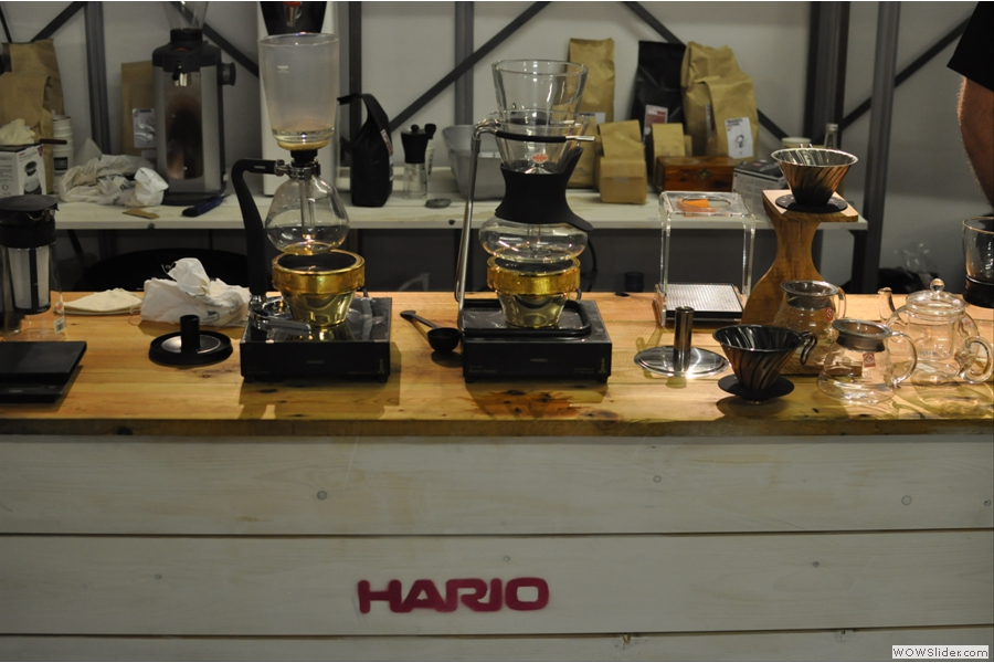It was more trade-orientated at the Showroom, but there were still goodies on sale at the Hario stand