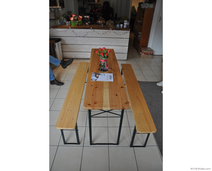 There's also a communal table in the middle of the room, although that might be gone now.