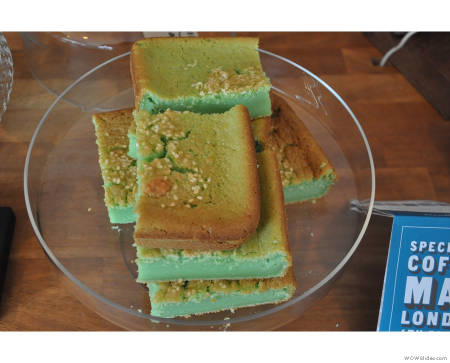 ... although I am calling it 'Green'. I took a slice of Green home with me. It was delicious!