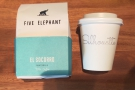 I was given a sample of the Five Elephant to take away with me (just enough for a cup)...