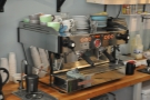 ... where the two-group La Marzocco does most of the heavy lifting.