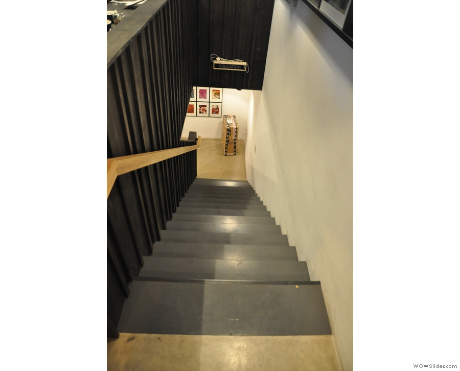 Talking of which, the steps by the door lead down to the basement...