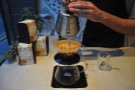 Again, the filter is filled almost to the top with a vigorous pouring action.