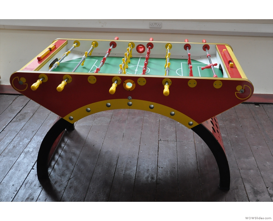 And finallly, that vital piece of equipment: table football! Why don't more places have one?