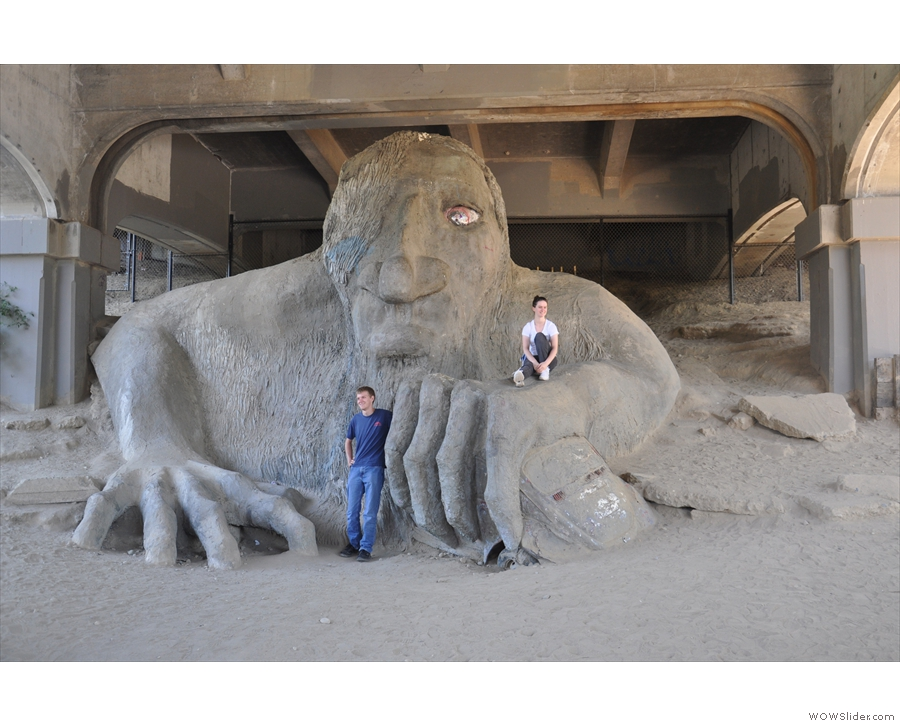 ...a troll! This troll, to be precise. The Fremont Troll. Handsome fellow :-)
