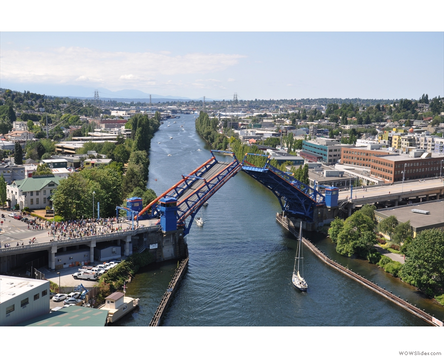 ... one more time as I was crossing the Aurora Bridge.