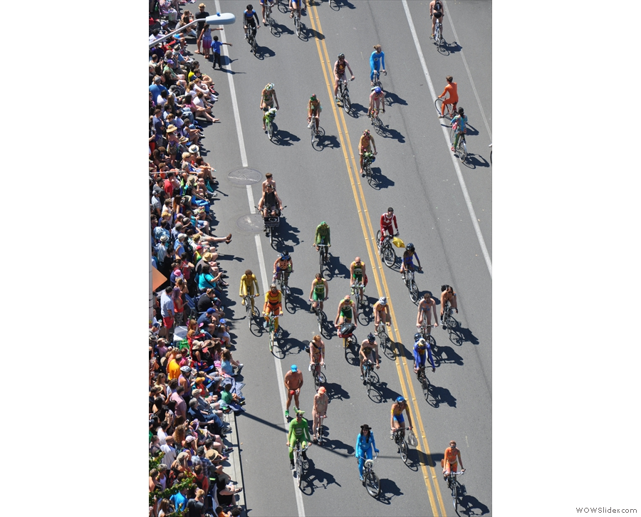 Colourful bunch, these cyclists.