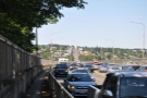After a steep climb, I found myself on the Seattle side of this: the Aurora Bridge.