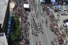 By the time I had reached the Fremont side of the bridge, the cycle parade was underway.