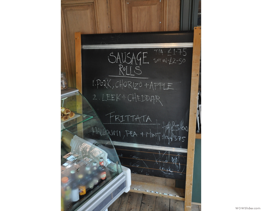 The specials are on the blackboard in the corner. I've not seen one of those since university!