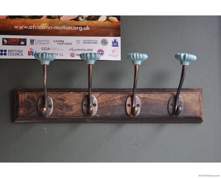 I appreciated the coat hooks: a nice touch.