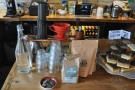 This makes space on the front counter for the (small) brew bar.