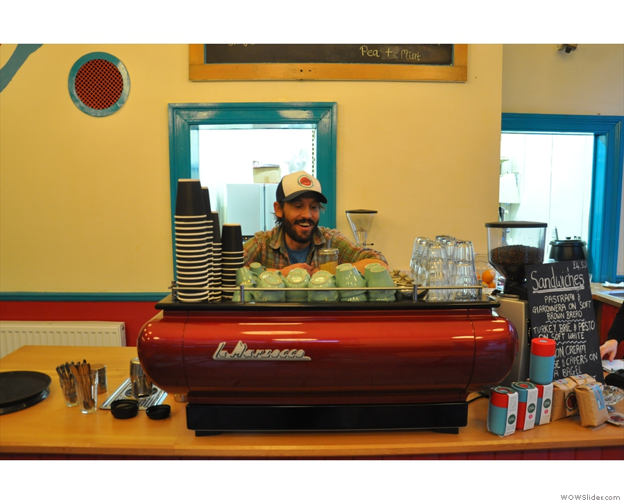 Happy owners (Danny in this case) make for happy coffee in my experience.