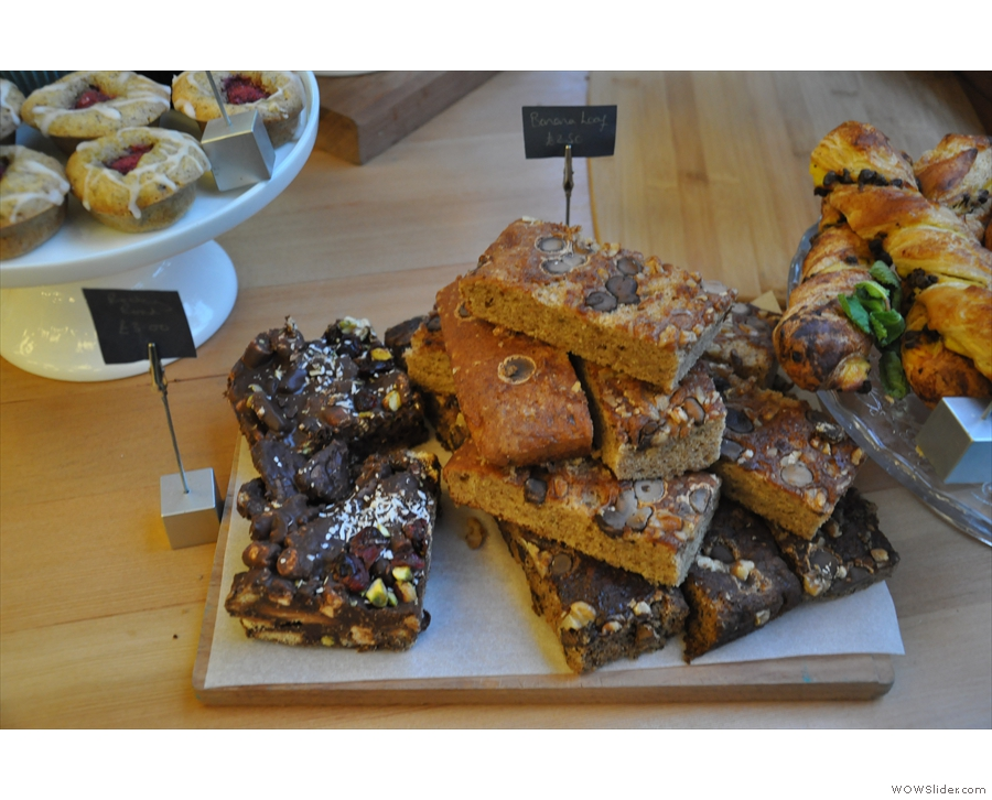 Rocky road (left) and banana loaf (right).