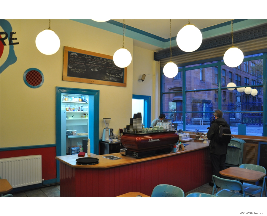 A view of the counter from the back...