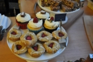 There are financiers (front) and cupcakes (back)...