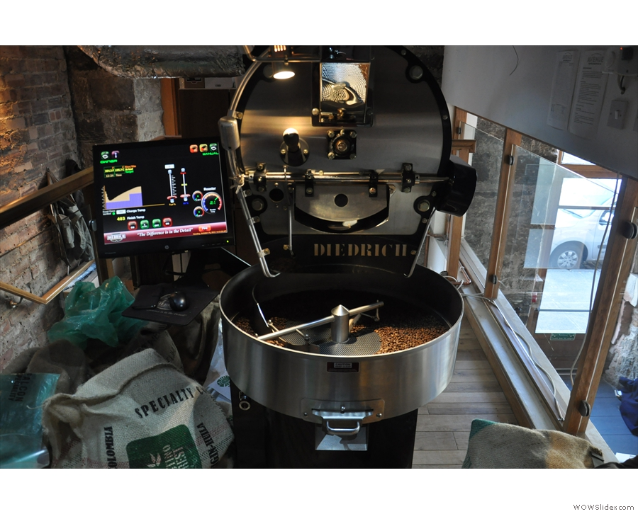 He was busy roasting some small batches while I was there.