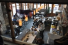The roaster affords a great view of the cafe below.