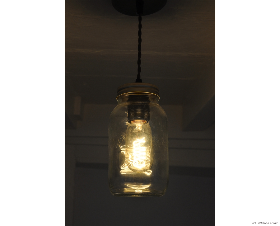 I also liked the light-bulbs in jam jars.