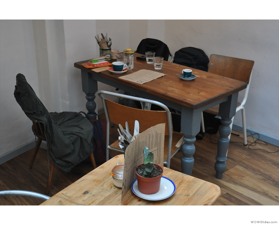 This was the table that Cherie and I ended up at, to the right of the door.