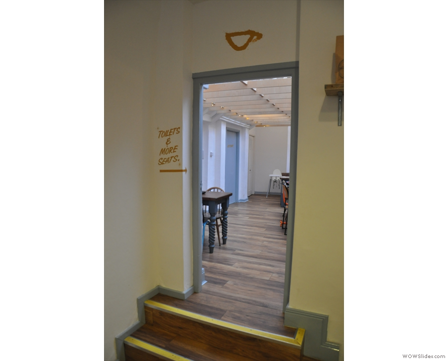 ... next to the doorway through to the back room.
