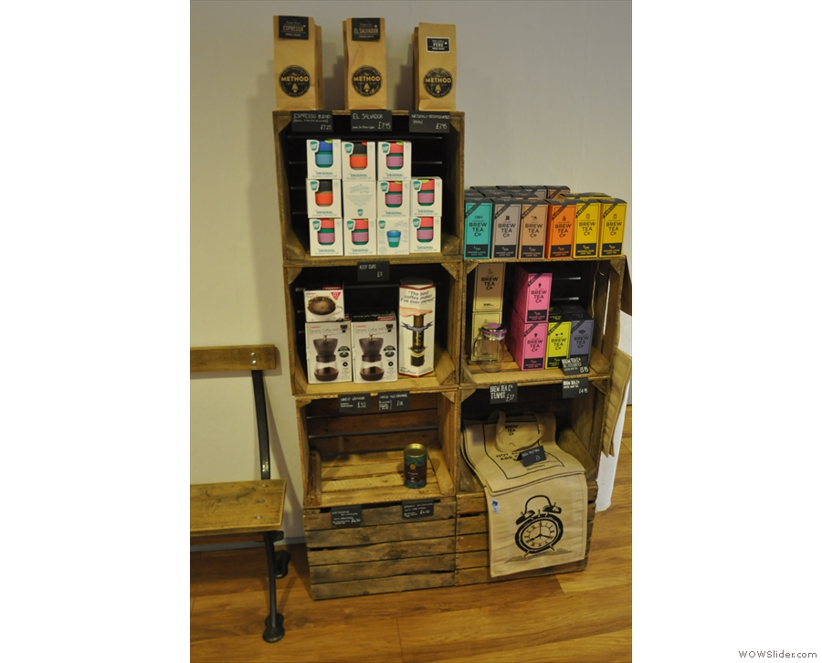 This one also has coffee kit, including Keep Cups, and tea from Brew Tea Co.