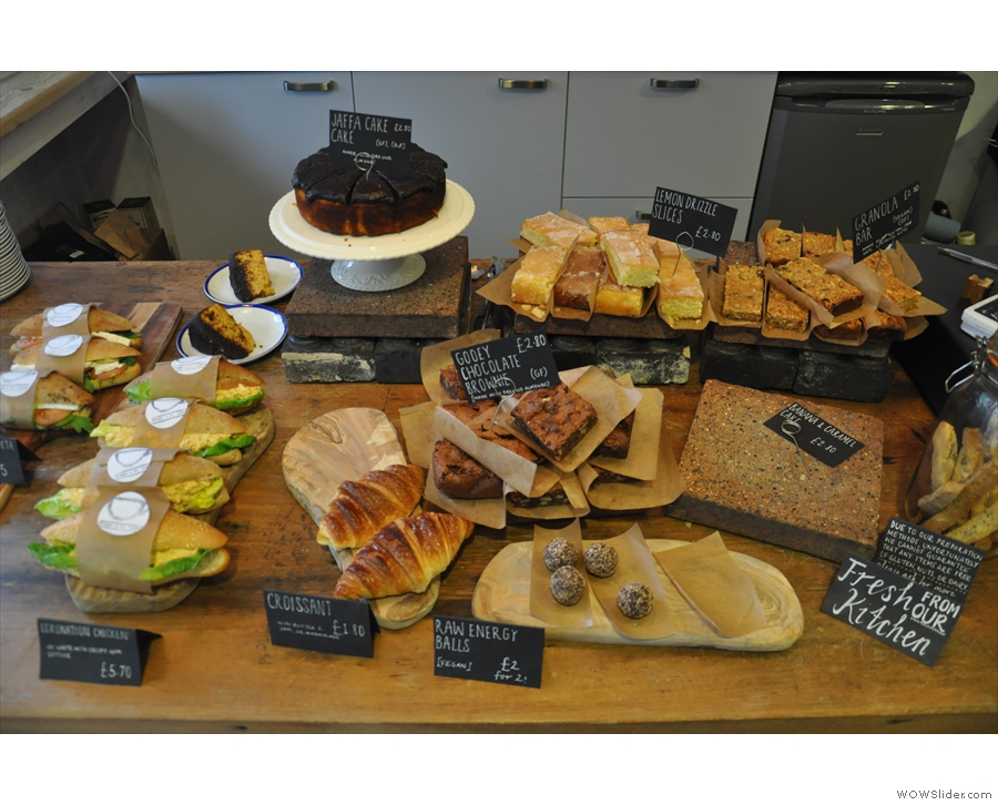 ... then comes the cake, an even more impressive and tempting array.