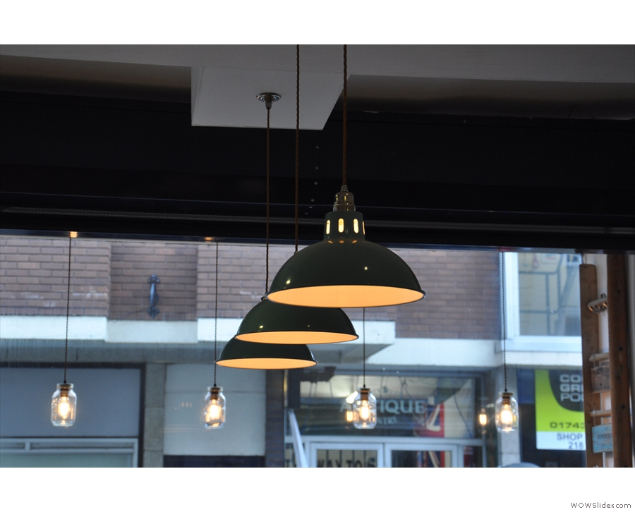 Another view of the window lights, plus the lights over the counter.