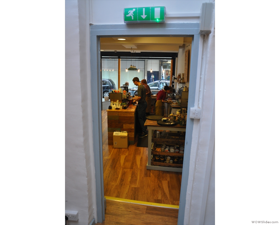 The view back into the front of Ginger & Co, and the counter.