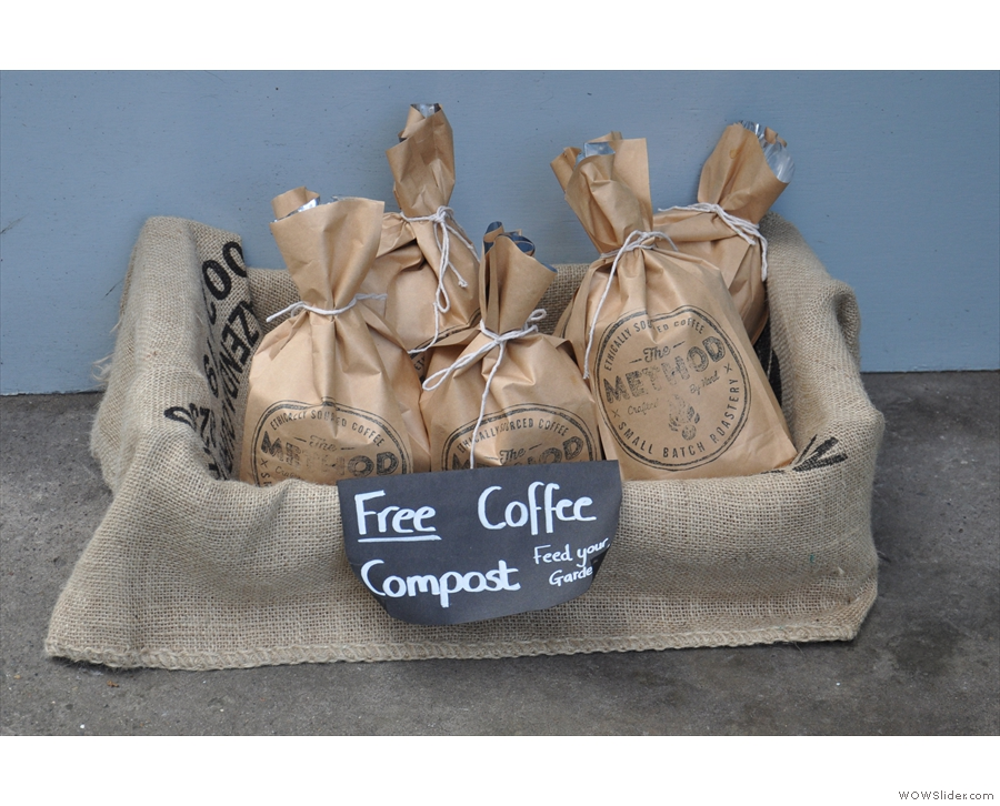 You can also have some used coffee if you like; excellent plant fertiliser!