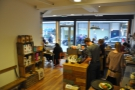 Looking towards the front of the store from the back of the counter.