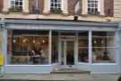 Ginger & Co. Coffee on Shrewsbury's Princess Street, next to the Old Market Hall.