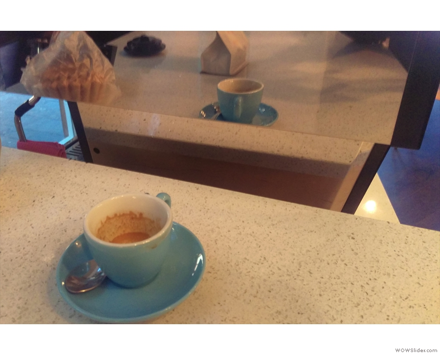 At Gary's insistence, I also tried the Origin espresso, which was very different.