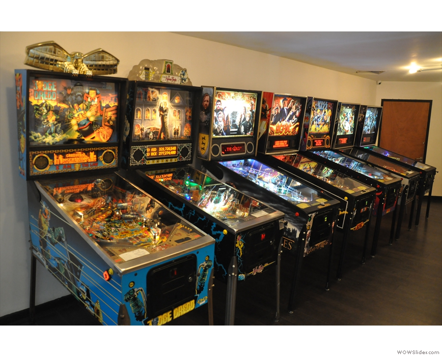 ... and a row of pinball machines against the left-hand wall.
